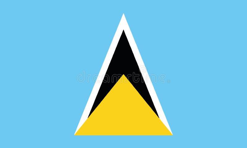 Nationsflagga Saint Lucia vektor illustrationer