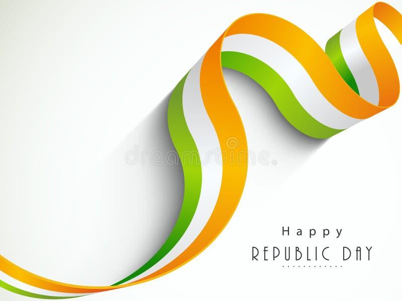 Nationsflaggafärgband för indisk republikdag vektor illustrationer