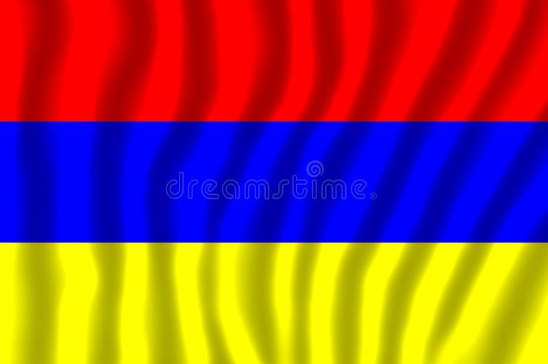 Nationsflaggan av Armenien stock illustrationer