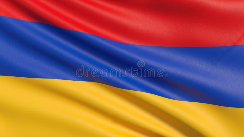 Nationsflaggan av Armenien, den Tricolour armeniern arkivbilder