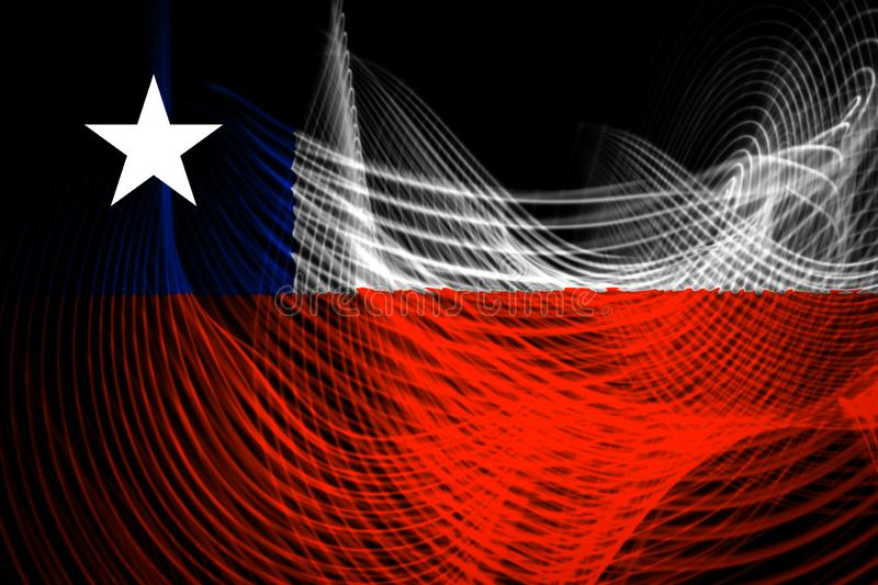 Nationsflaggan av Chile vektor illustrationer