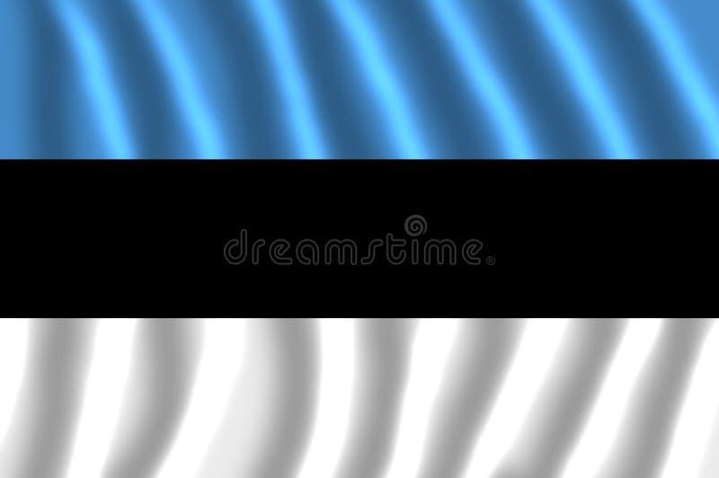 Nationsflaggan av Estland ATT FLADDRA royaltyfri illustrationer