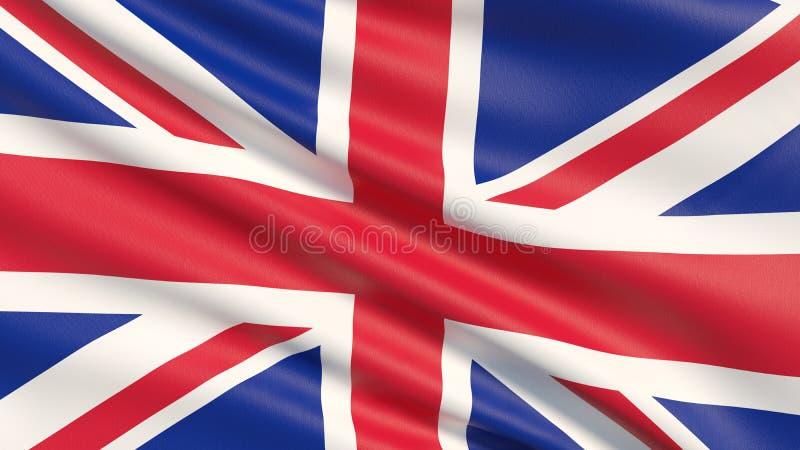 Nationsflaggan av Förenade kungariket är Union Jack, också som är bekant som den fackliga flaggan fotografering för bildbyråer