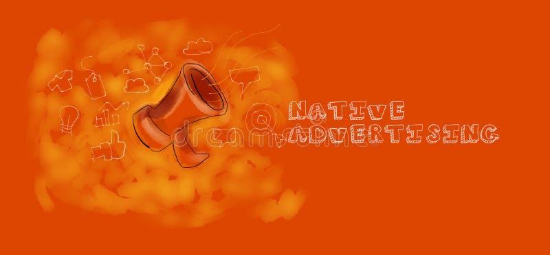 Native advertising royalty free illustration