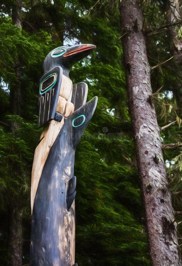 Native Alaskan Totem Pole stock images