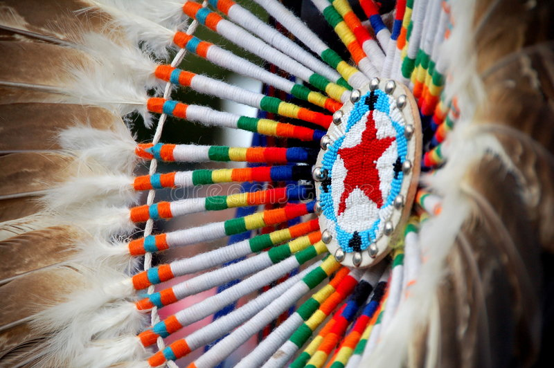 Native American. Design with beadwork royalty free stock photos