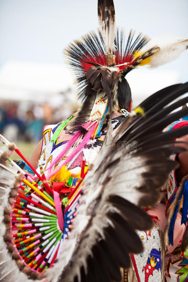 Native American. Design with beadwork royalty free stock photography