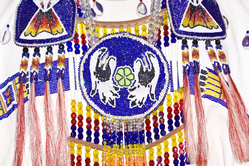Native American Apparel. With intricate bead work stock photography