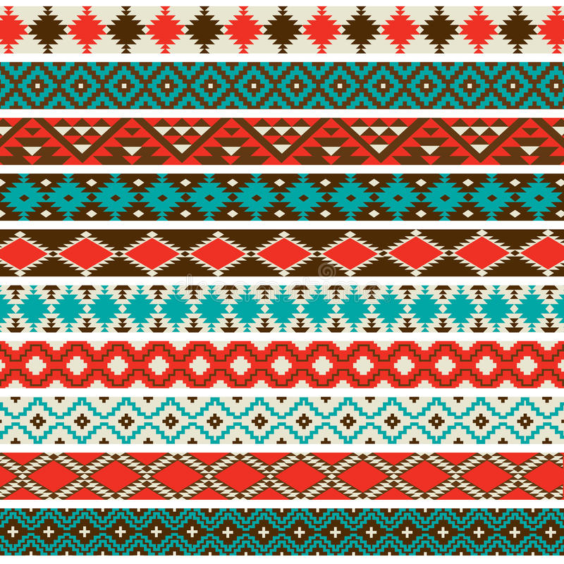 Free Native American Border Patterns Royalty Free Stock Images - 41655299