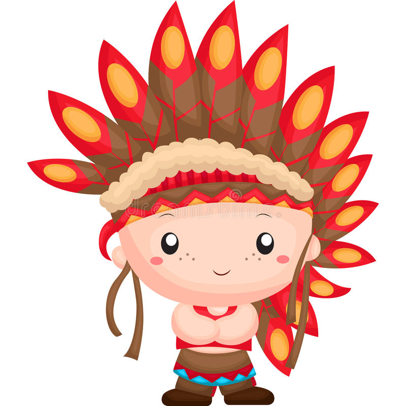 The Native American Chief royalty free illustration