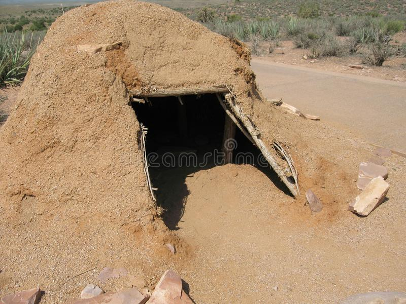 Download Native American Clay Hut At Grand Canyon West Rim In Northwestern Arizona Stock Photo - Image: 101900928