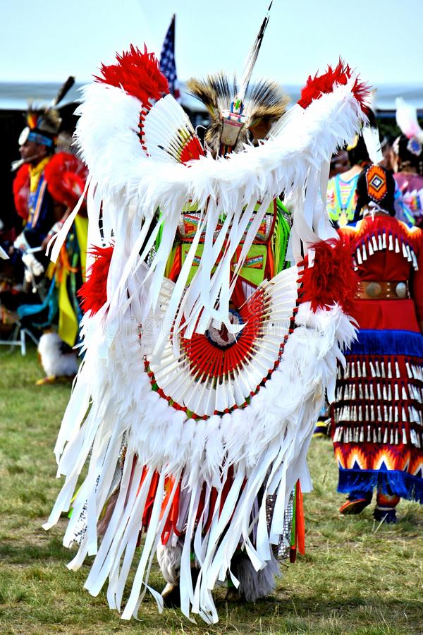 Native American dancers. Native American dancer performing during the Gateway to Nations Pow Wow, Brooklyn, New York June 8, 2014 stock image