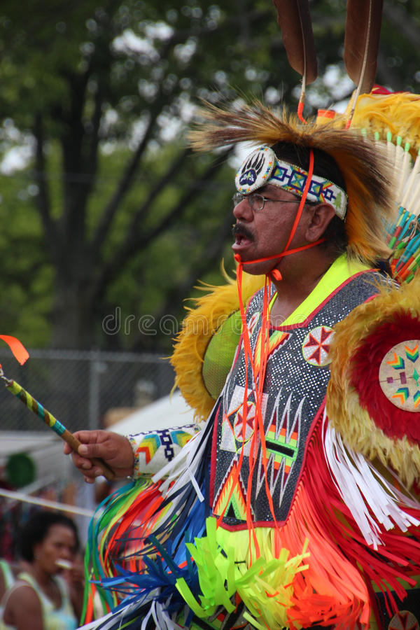Native American Dancers at pow-wow royalty free stock photo