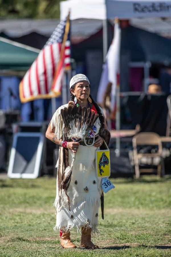 Native American Dancing at Powwow stock images