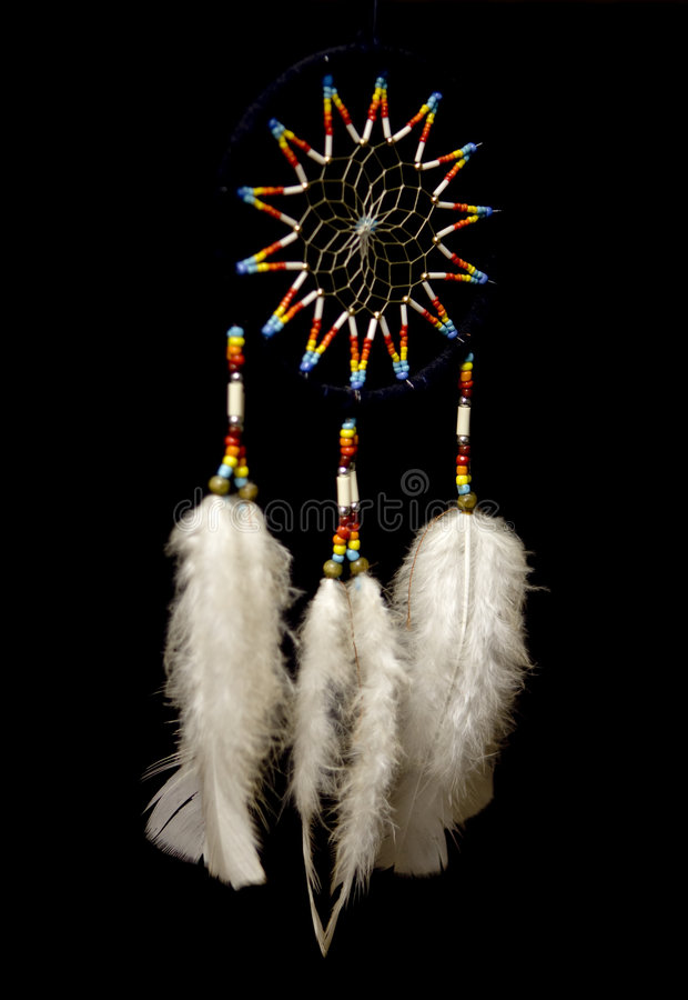 Native American dreamcatcher. A Native American Indian dream catcher royalty free stock photos