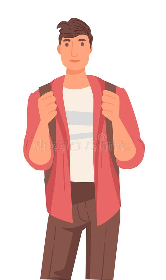 Free Native American Guy With Backpack, International University Student Stock Photography - 175034782