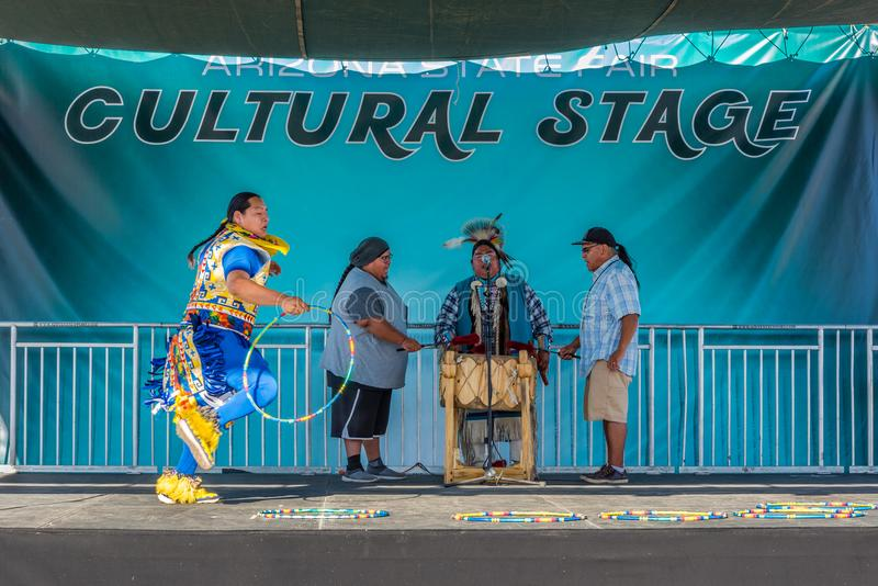 Native American Hoop Dancer royalty free stock image