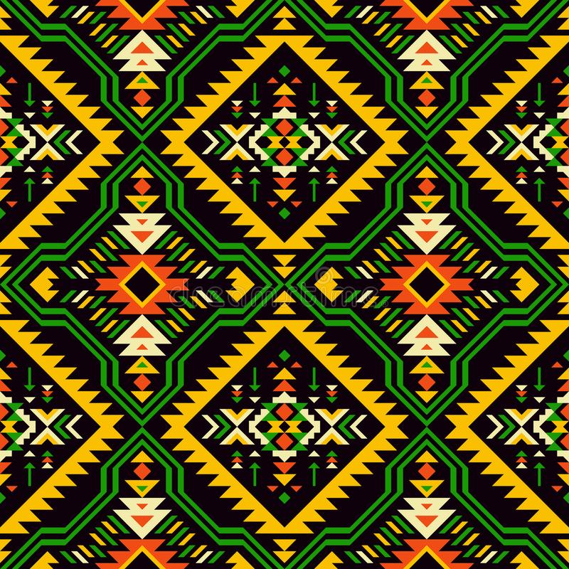Native american, indian, aztec, african, geometric seamless pattern. royalty free illustration