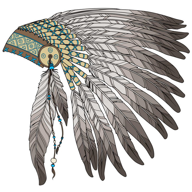 Free Native American Indian Chief Headress Royalty Free Stock Images - 53196289