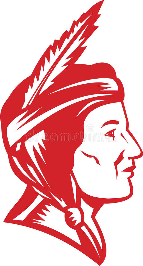 Download Native American Indian Squaw Woman Stock Vector - Illustration of chief, retro: 31404902
