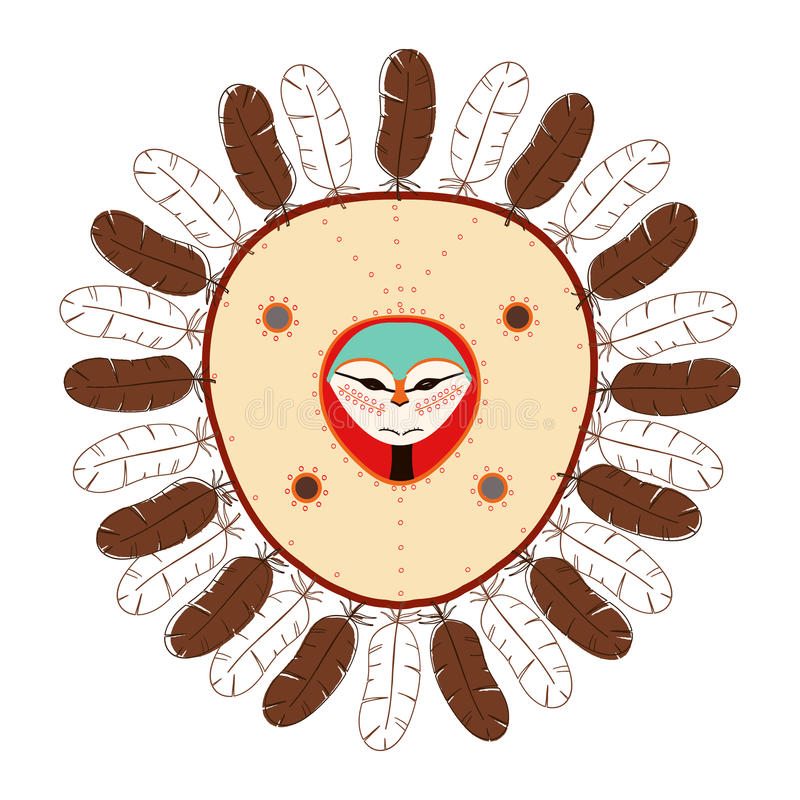 Native American mask royalty free stock images