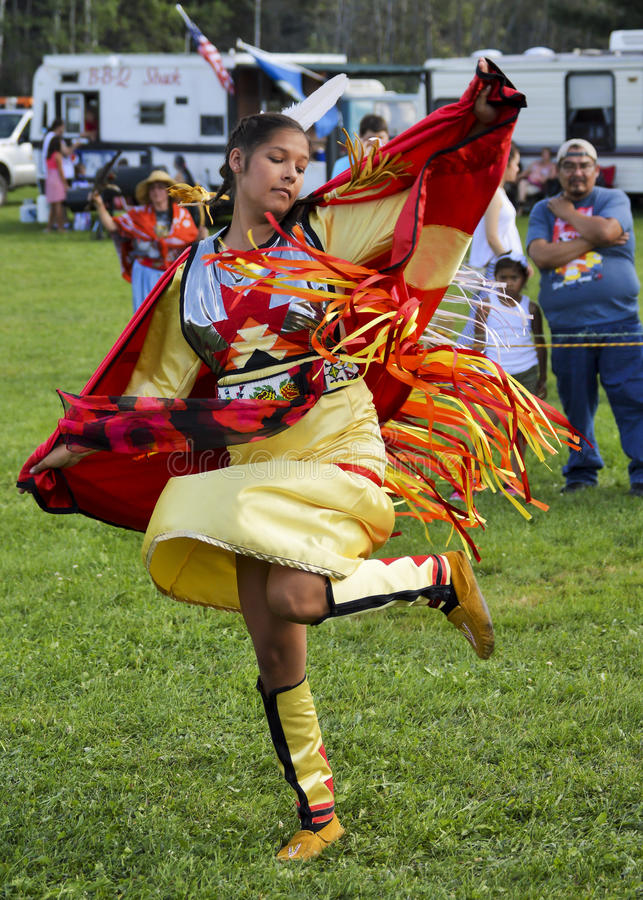 Native American Micmac Woman Dancer royalty free stock photos