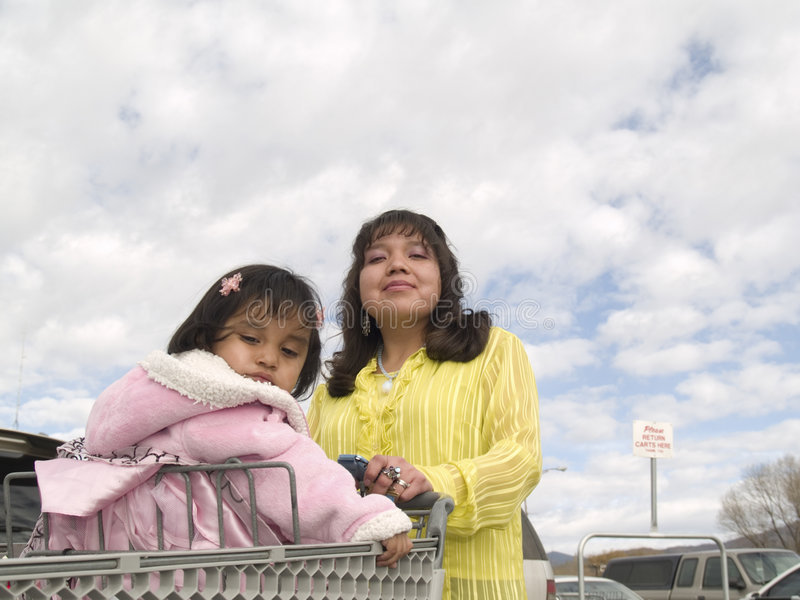 Download Native American Mother & Daughter Ready To Shop Stock Photo - Image: 7246170