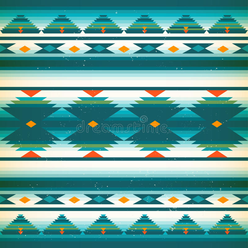 Native american pattern. Vector american Indians stock illustration