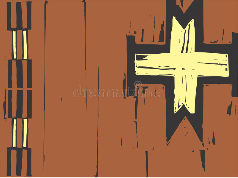 Download Native American Patterning Cross Stock Vector - Image: 9184101