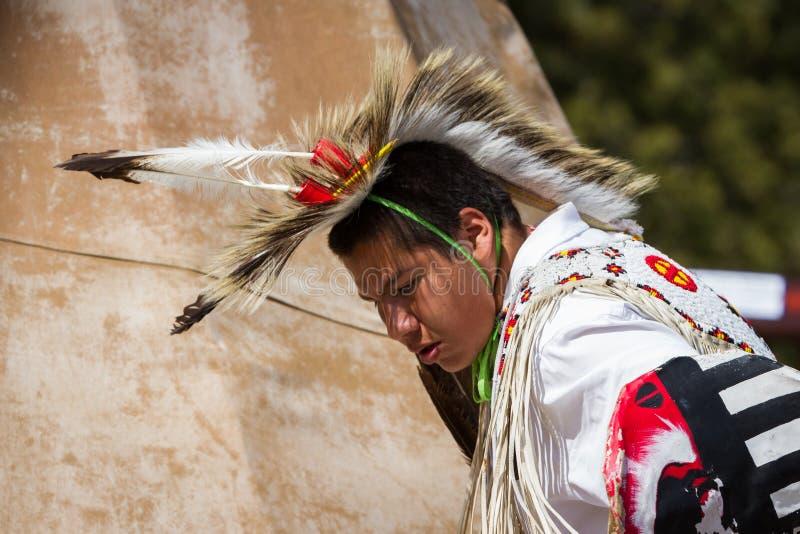 Native American performer stock image