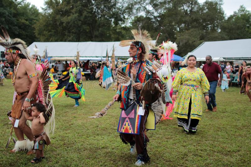 Native American pow wow dancers royalty free stock image