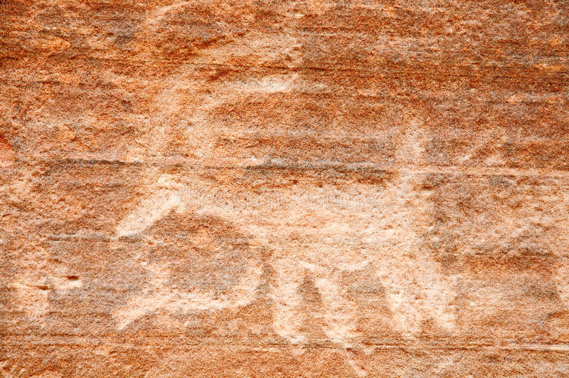 Download Native American Petroglyph On Canyon Wall Stock Photo - Image: 7693680