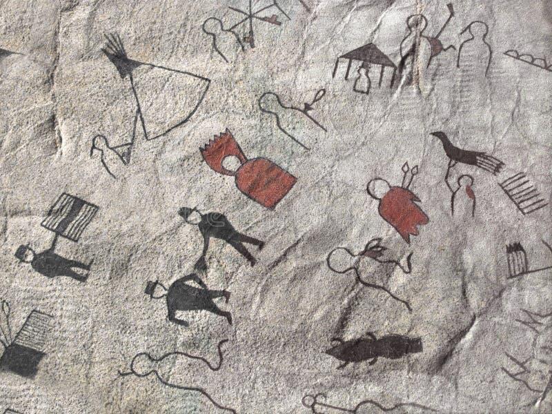 Native American pictograph stock photos