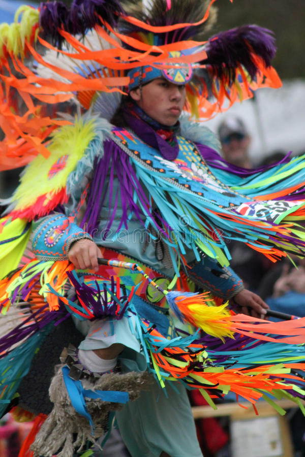 Native American at Pow Wow stock images