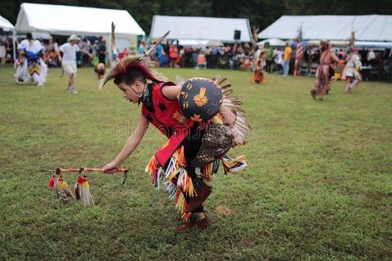 A native American pow wow dancer stock image