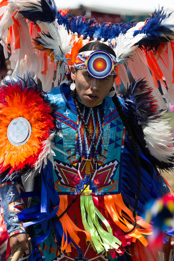 2015 Native American POW-WOW. 37th Annual Thunderbird American Indian Mid-Summer Pow-Wow Queens NY Nations represented this year included: Hopi, Cherokee, Navajo royalty free stock photos