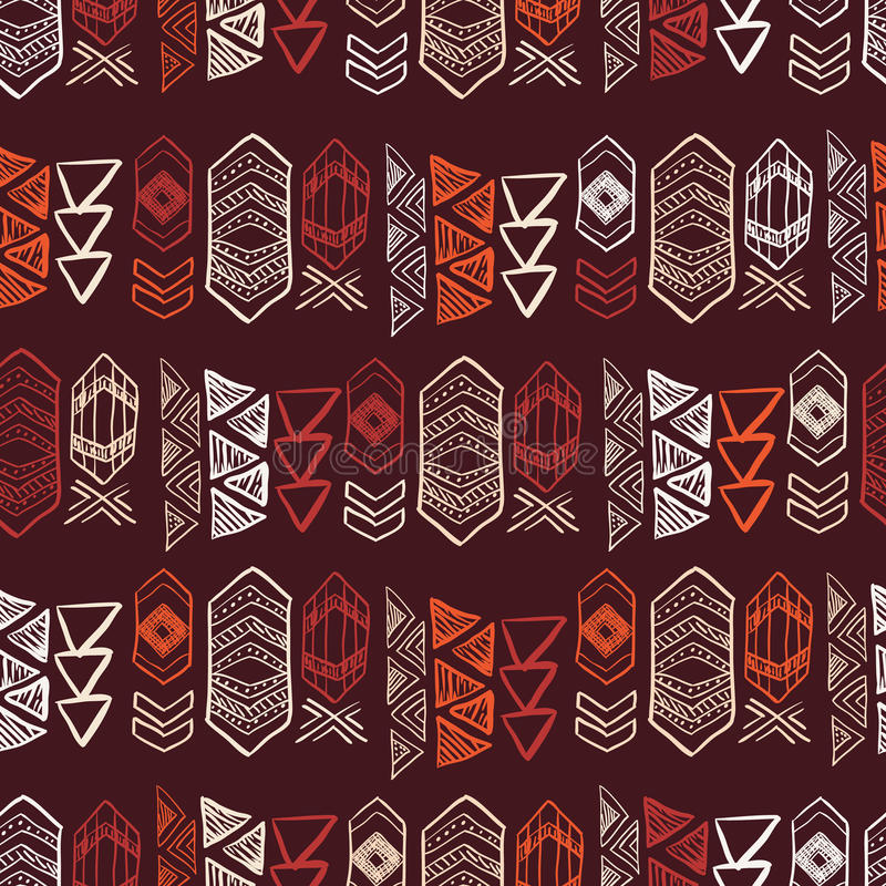 Ethnic National: Native American Seamless Pattern Stock Vector