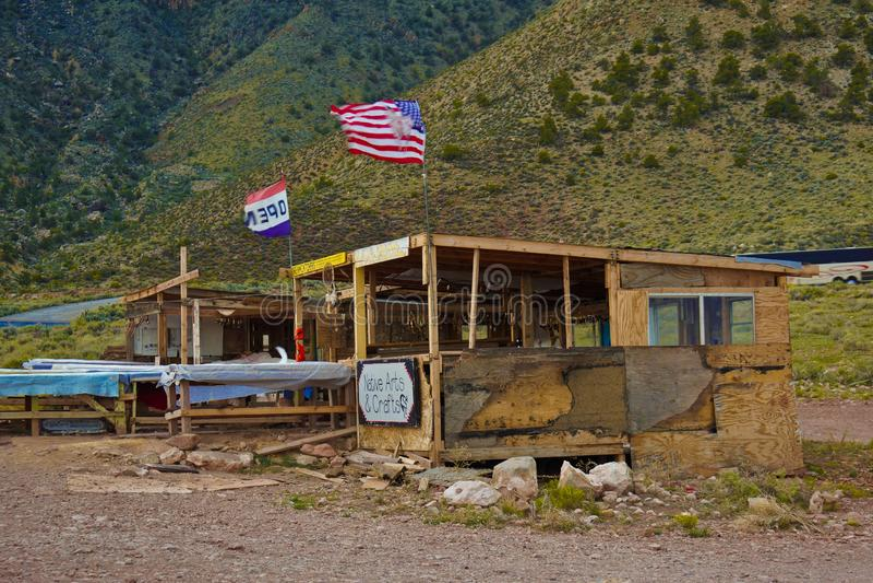 Native american souvenir store at grand canyon royalty free stock image