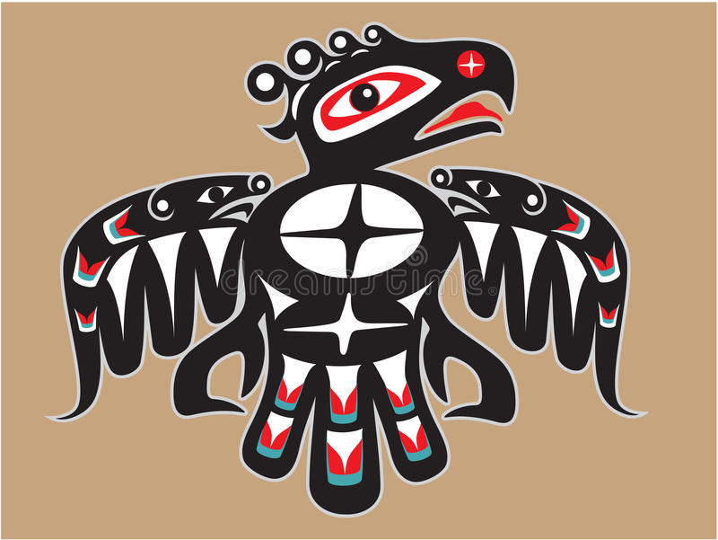 Native American Style Thunderbird royalty free illustration