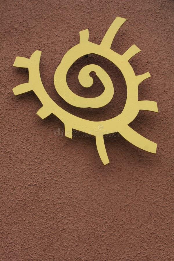 Native American Sun Symbol royalty free stock images