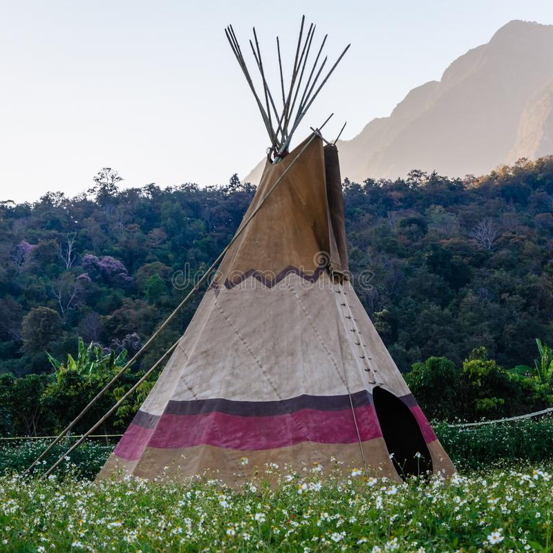 Native American Teepee in USA. Native america american teepee usa stock images