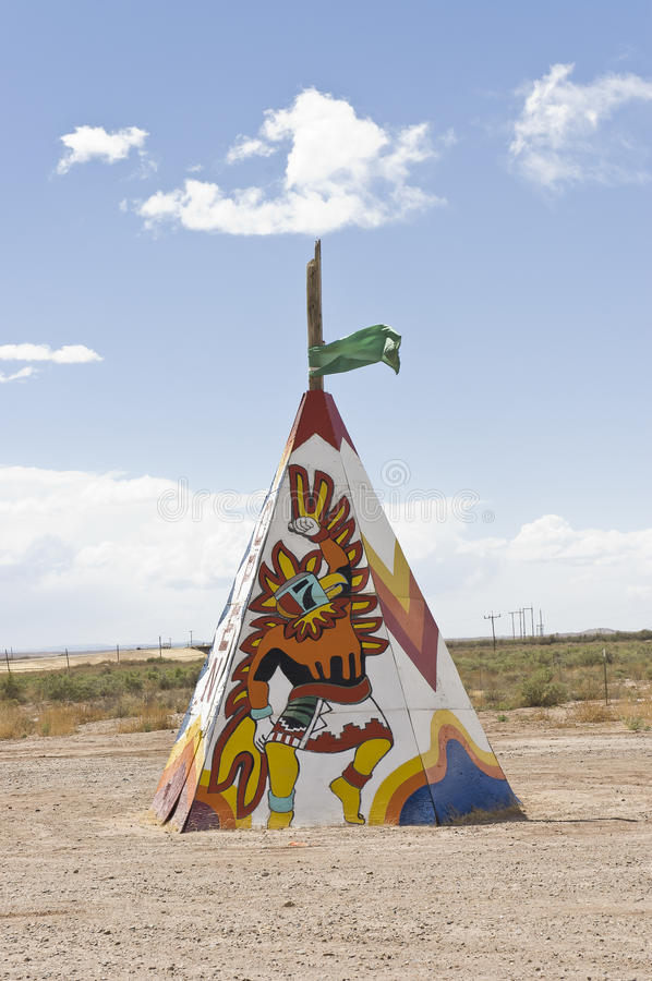 Native american tipi or teepee royalty free stock photo