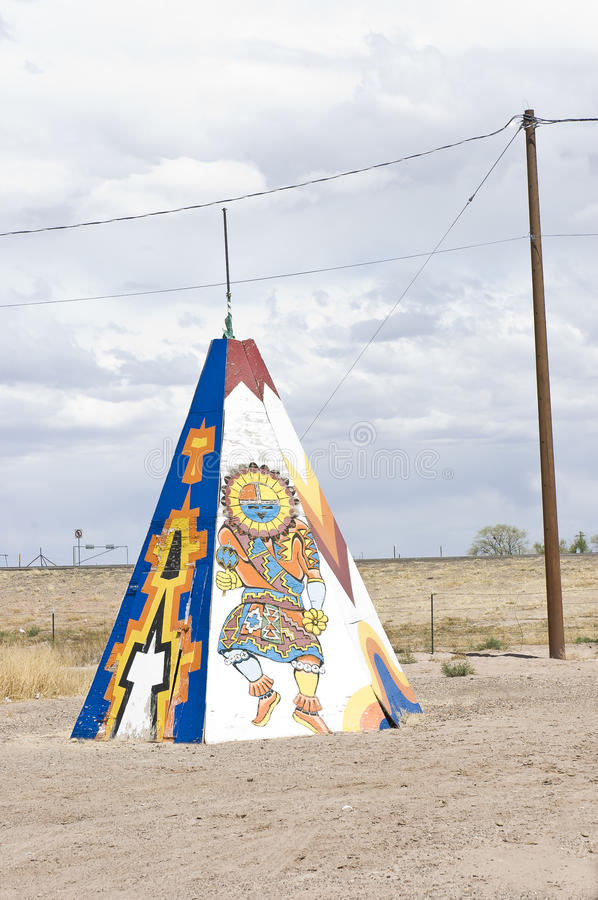 Native american tipi or teepee royalty free stock image