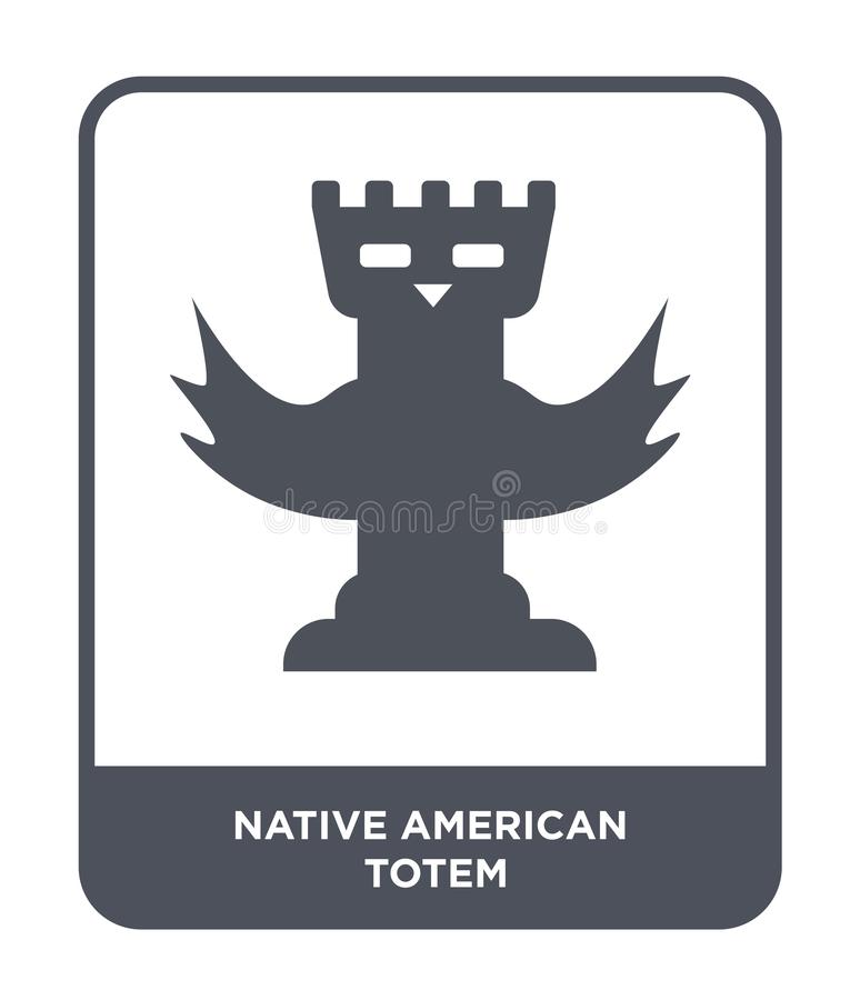 Native american totem icon in trendy design style. native american totem icon isolated on white background. native american totem. Vector icon simple and modern stock illustration