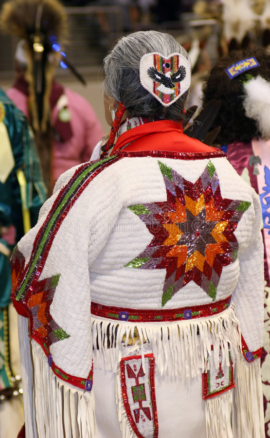 Native American Woman. At the yearly pow wow stock photography