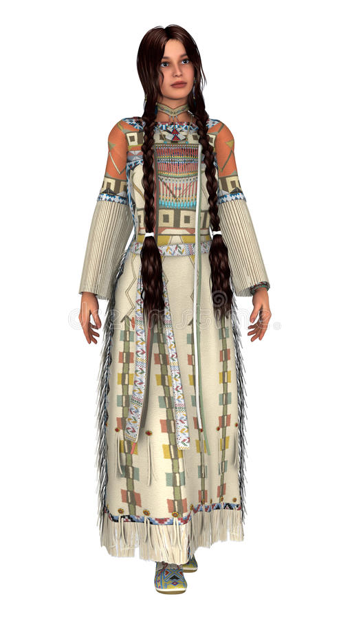 Native American Woman stock illustration. Illustration of ...