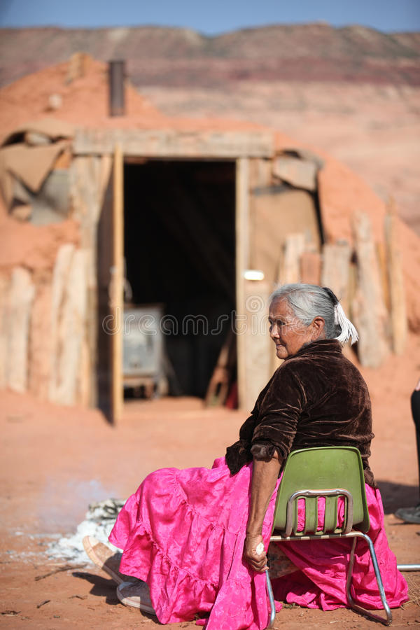 Native American woman stock images