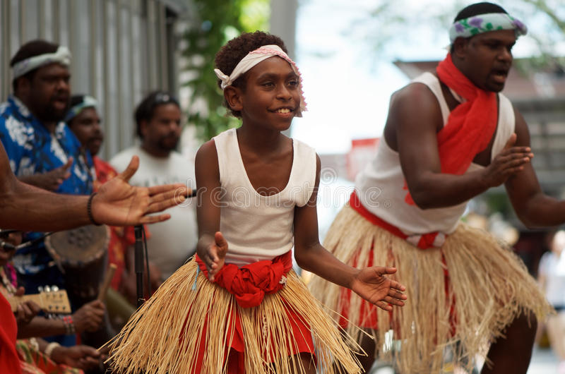 Native Australian dancers stock photos