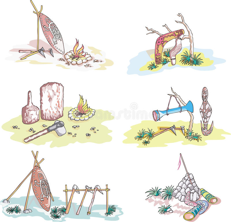 Download Native Australian Sketches stock vector. Image of drawing - 29245641