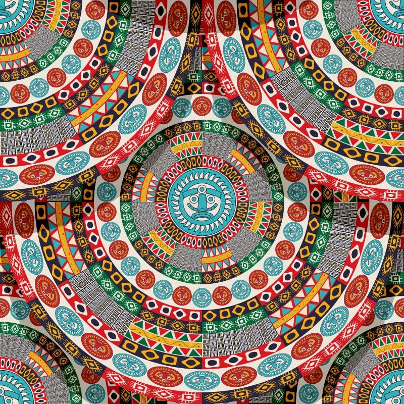 Native aztec, mayan tile stock illustration